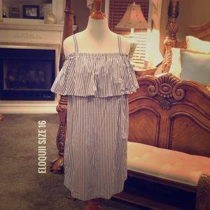Eloquii Off the Shoulder Dress Size 16 NWT